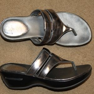 Cole Haan Nike Air Leather Thong Slide Sandals 8.5